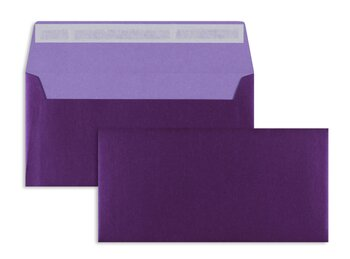 Enveloppes colorées - Violet (Fashion purple)~110 x 220...