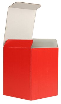 Cartons pliants colorées - Rouge ~86 x 86 x 105 mm |...