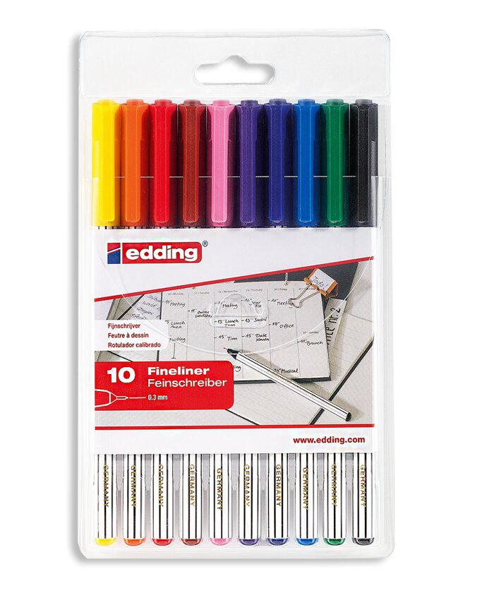 broches colorées (fine liner) | Multicolore (multicolore)  | 1 pièces
